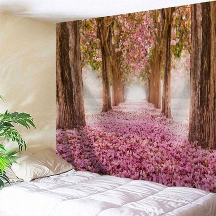 Sakura Scenery Throw Fabric Wall Hanging Tapestry