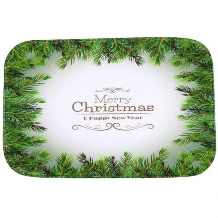 Antislip Merry Christmas Tree Room Decor Doormat Carpet