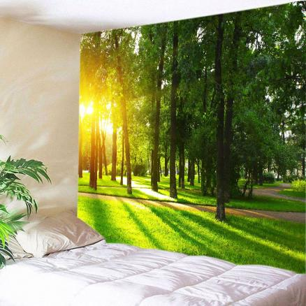 Forest Avenue Sunlight Print Tapestry Wall Hanging Art