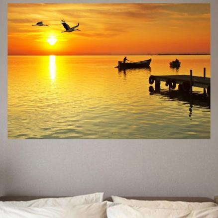 Boat Flyer Printed Environmental Removable Wall Sticker
