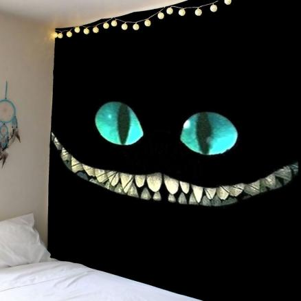 Horror Smile Face Wall Art Tapestry