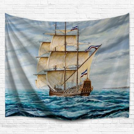 Nautical Bedspread Decor Wall Hanging Tapestry