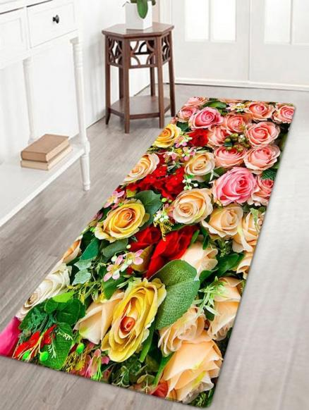 Valentine's Day Roses Pattern Indoor Outdoor Area Rug