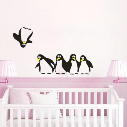 DSU Penguin refrigerator  notebook stickers personality cartoon wall stickers murals