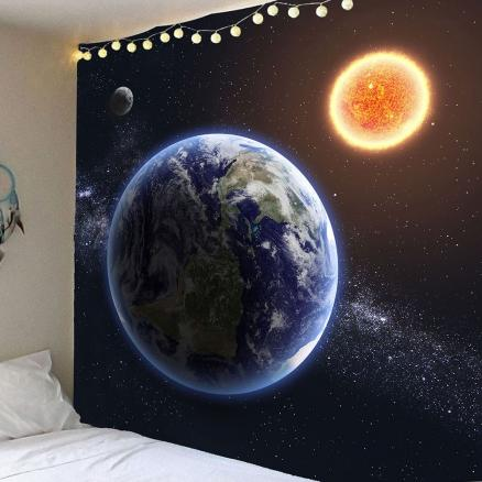 Waterproof Earth Planet Pattern Wall Hanging Tapestry