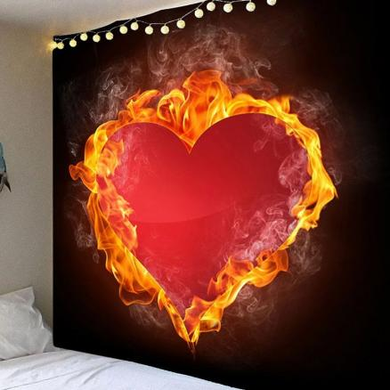 Valentine's Day Fiery Heart Wall Hanging