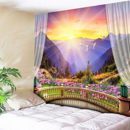 Wall Hanging Colorful Valley Print Tapestry