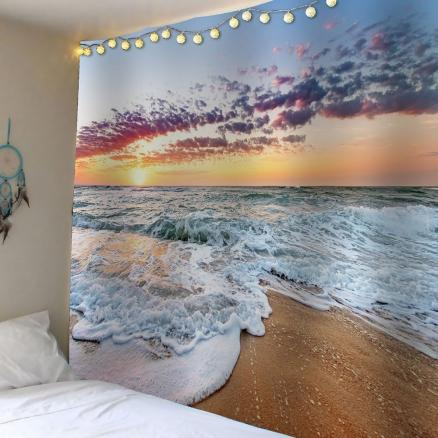 Beach Sunrise Waterproof Wall Tapestry