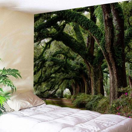 Wall Hanging Art Trees Avenue Print Tapestry