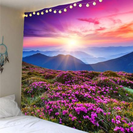 Lavender Pattern Decoration Wall Tapestry