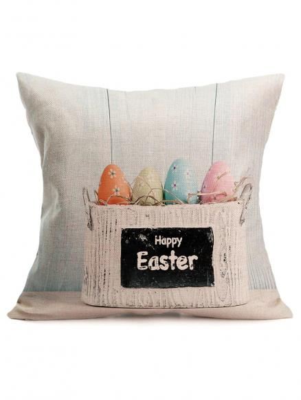 Easter Colors Eggs Printing Pillowcase