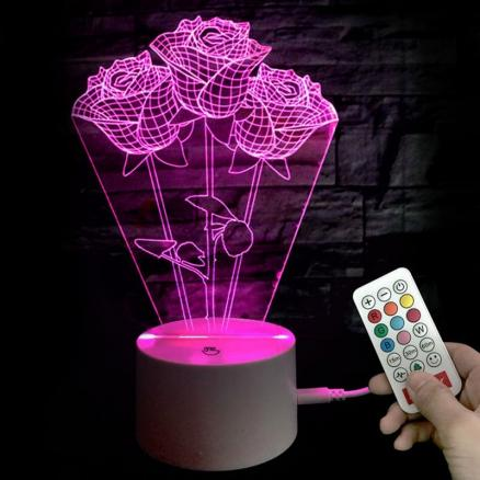 Valentine's Day Rose Confession Present LED Night Light
