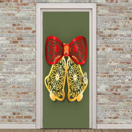Environmental Removable Paper Cut Bell Printed Door Stickers