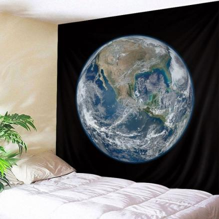 Wall Hanging Art Earth Planet Print Tapestry