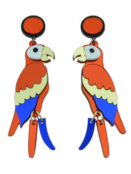 Parrot Bird Drop Earrings