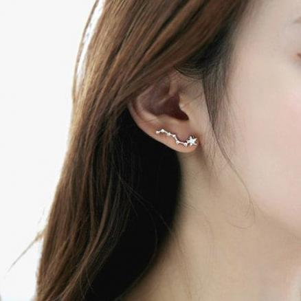Pair of Stylish Chic Triones Earrings For Women