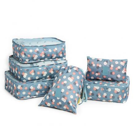 6 Pieces Floral Print Storage Bag Set