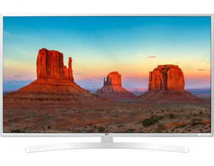 Телевизор LG 49 LED, UHD, IPS, Smart TV (webOS 3.5) Звук (20 Вт (2x10 Вт)), 3xHDMI, 2xUSB, Белый, 49UK6390PLG