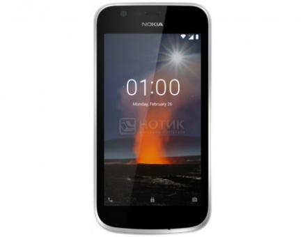 "Смартфон Nokia 1 DS 8Gb Dark Blue (Android 8.0 (Oreo)/MT6737M 1100MHz/4.50"" 854x480/1024Mb/8Gb/4G LTE ) [11FRTL01A08]"