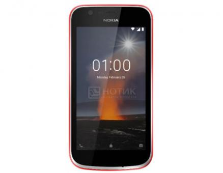 "Смартфон Nokia 1 DS 8Gb Warm Red (Android 8.0 (Oreo)/MT6737M 1100MHz/4.50"" 854x480/1024Mb/8Gb/4G LTE ) [11FRTR01A05]"