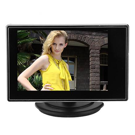 Инструмент 3.5 Inch TFT LCD Adjustable Monitor for CCTV Camera with AV RCA Video Sound Input для Безопасность системы 1514cm 0.121kg