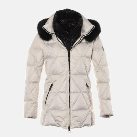 Short off white down jacket