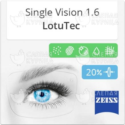 Zeiss Single Vision 1.6 LotuTec