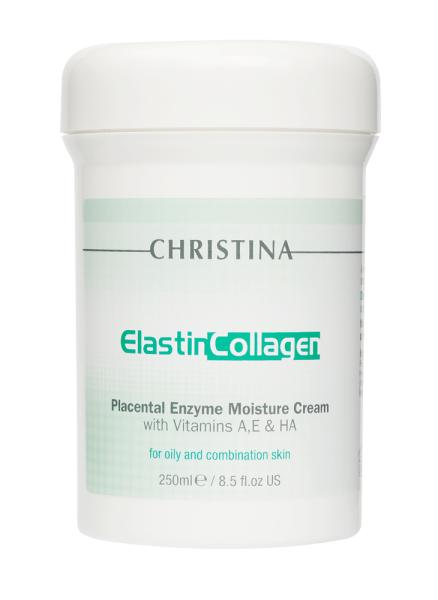 ElastinCollagen Placental Enzyme Moisture Cream with Vitamins A, E & HA for oily and combination skin