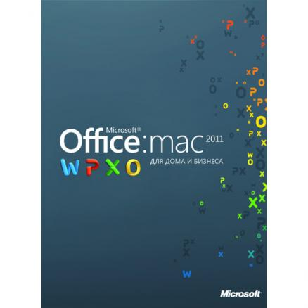 ПО Microsoft (Office:Mac 2011 для дома и бизнеса 2уст/пол+книга)