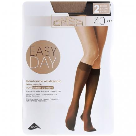 Гольфы Omsa Easy Day 40 den Caramello размер 3/4, 2 пары