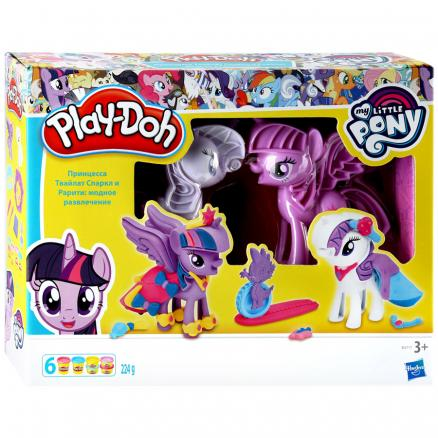 Набор Hasbro Play-Doh Твайлат Спаркл и Рарити