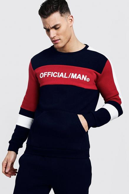 Colour Block MAN Official Sweater