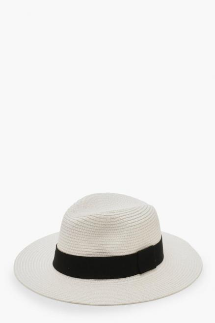 Tape Straw Fedora Hat