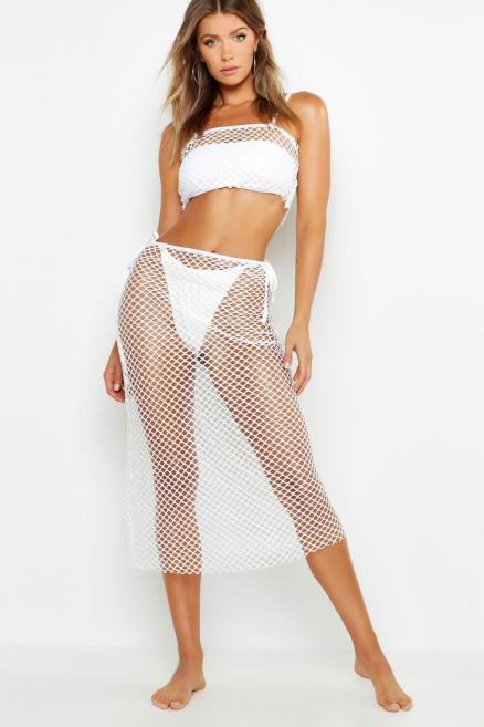 Fishnet Maxi Beach Skirt Co-Ord