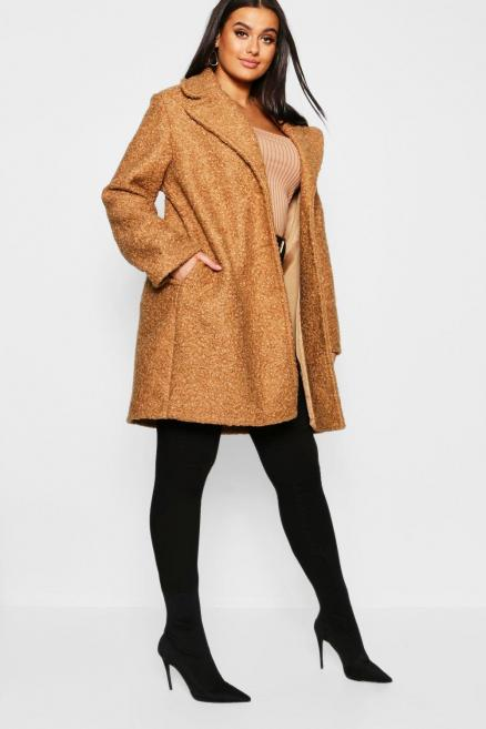 Plus Oversized Teddy Coat