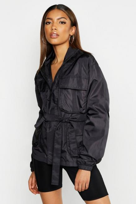 Belted Double Pocket Sports Jacket