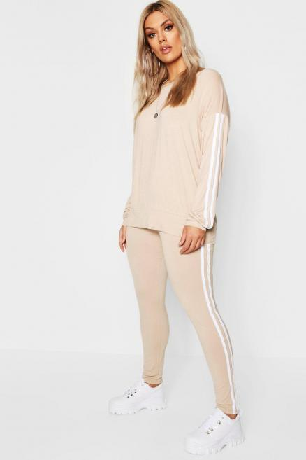 Plus Side Stripe Loungewear Set