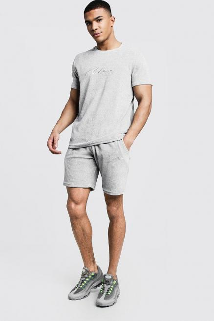 Velour MAN Signature T-Shirt & Short Set
