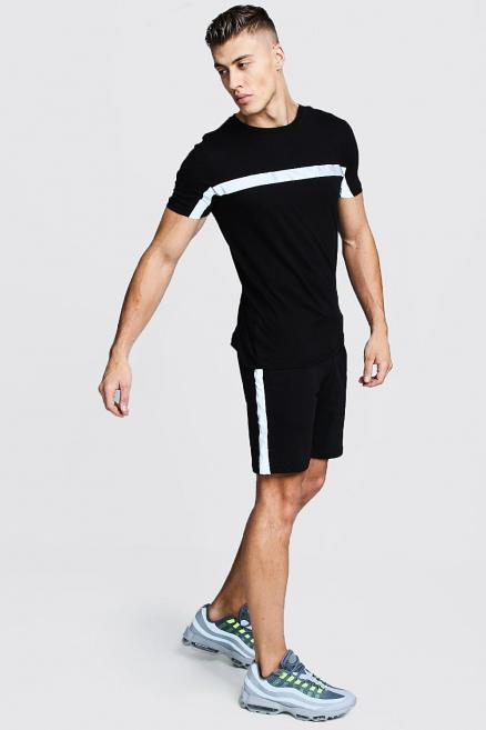 Reflective Tape Tee And Short Set