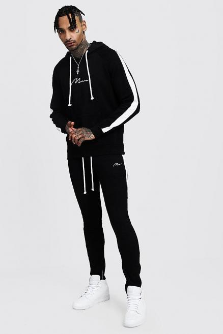 MAN Hooded Tracksuit With Side Panels