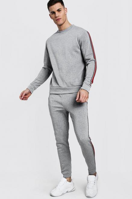 Sweater Tracksuit With Contrast Tape