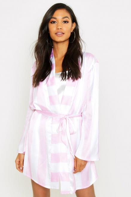 Wide Candy Stripe Robe