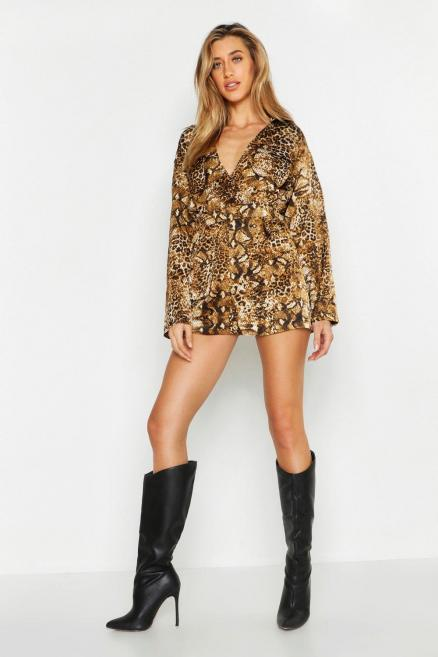 Animal Safari Cargo Pocket Playsuit