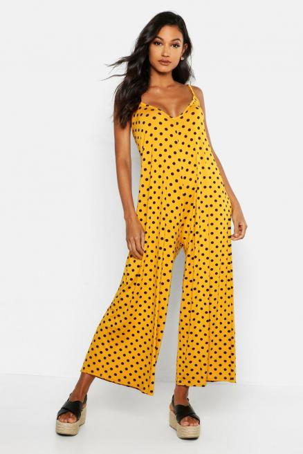 Polka Dot Swing Jumpsuit