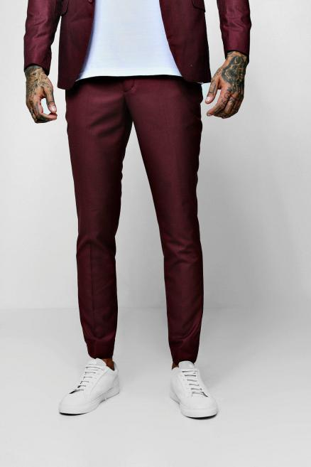 Plain Skinny Fit Cropped Trouser