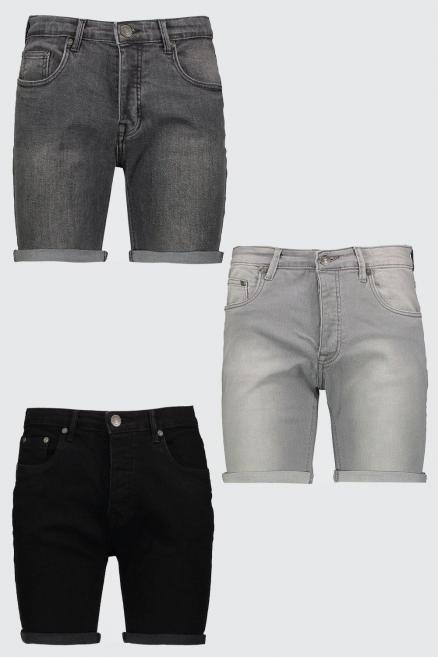 3 Pack Denim Shorts In Skinny Fit