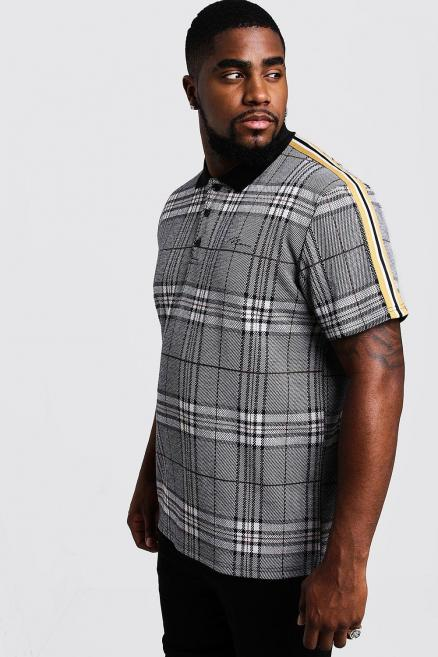 Big & Tall MAN Signature Check Polo
