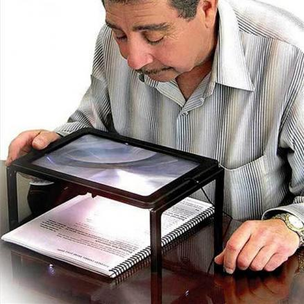 A4 Full Page Large 3X Giant Hands Free Desk Foldable Magnifying Glass Magnifier (HHI-540144)