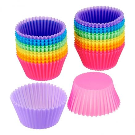 1/2/5/10 pcs Mini Reusable Silicone Baking Cups Muffin Cups Truffle Cups (HKI-544853)