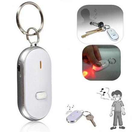 Mini LED Key Finder Locator Find Lost Keys Chain Keychain Whistle Sound Control (HHI-534396)